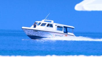 Speed boat charter in the Maldives